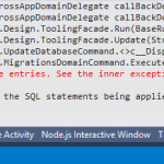 """Fixing """"An error occurred while updating the entries"""" while running code-first migrations in MVC 5 app"""