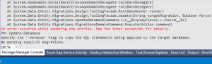 Entity Framework's Update-Database throwing an error