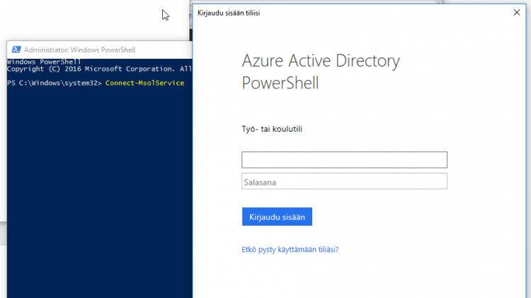 Getting Connect-MsolService (and other Azure Active Directory