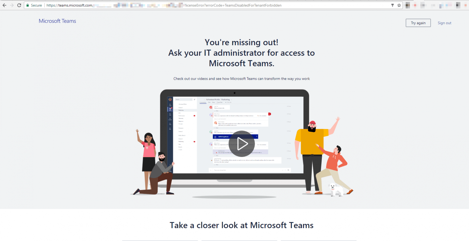 Solving Microsoft Teams Licensing Error