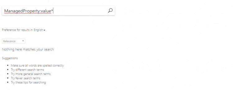SharePoint Search No Results