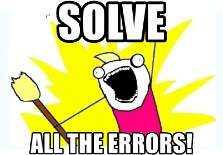 SOLVE ALL THE ERRORS!