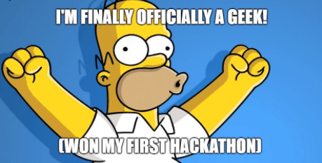 Won my first hackathon!