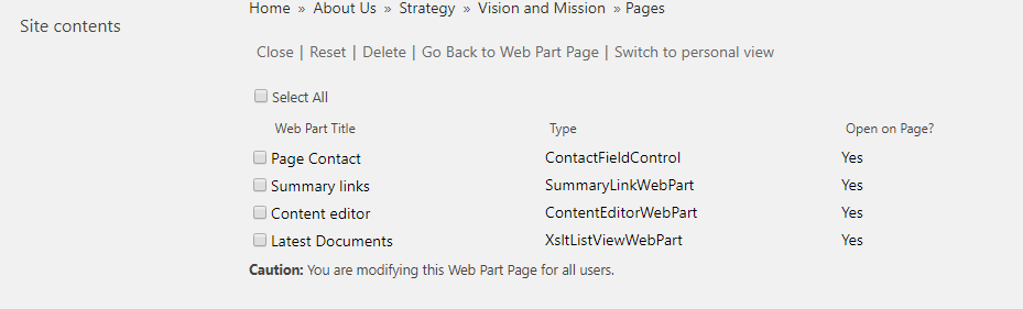 Maintenance Mode for a web part page in Classic SharePoint