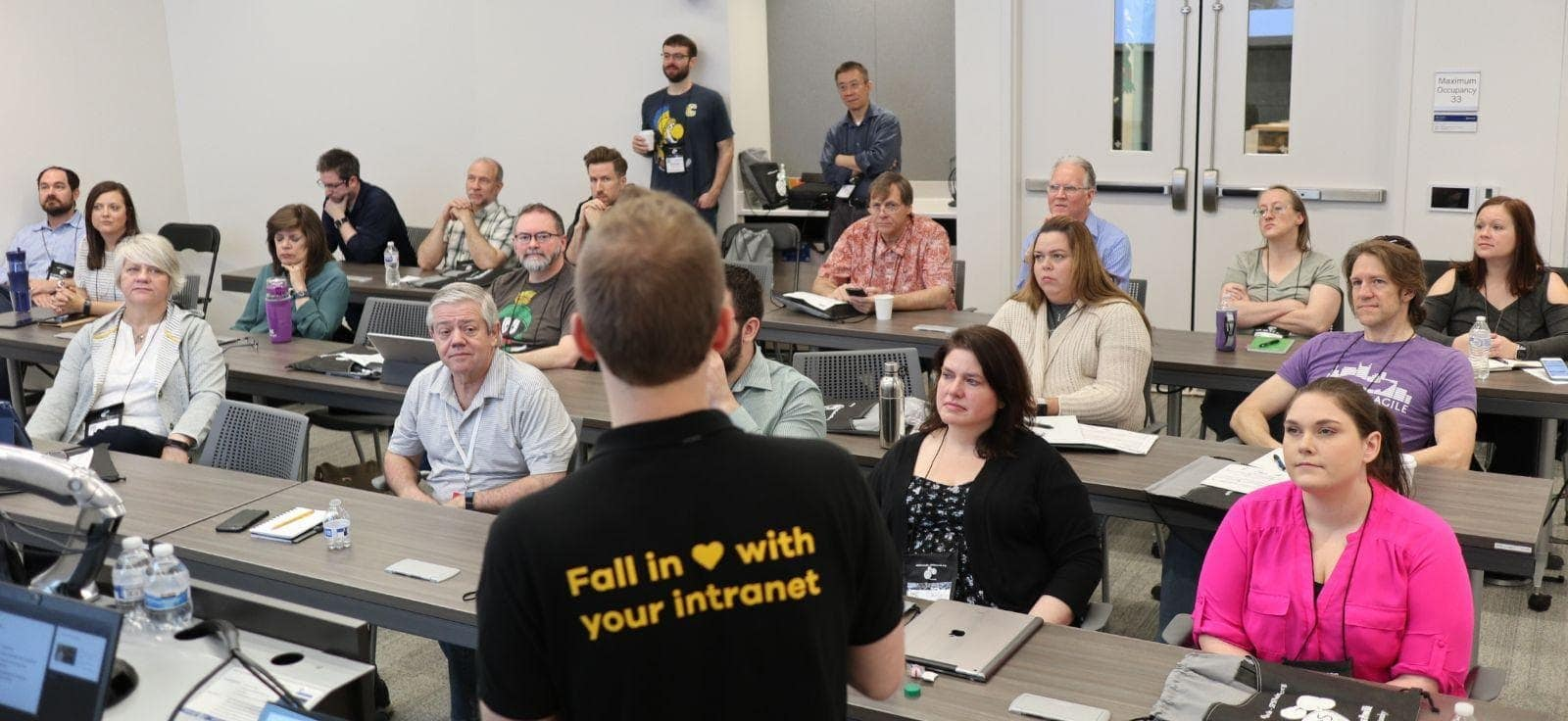 Antti K. Koskela having a session about Citizen Developer tools at a SharePoint Saturday