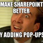 How to show a pop-up in SharePoint