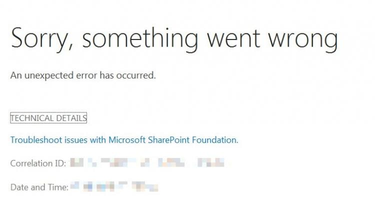Something went wrong in SharePoint