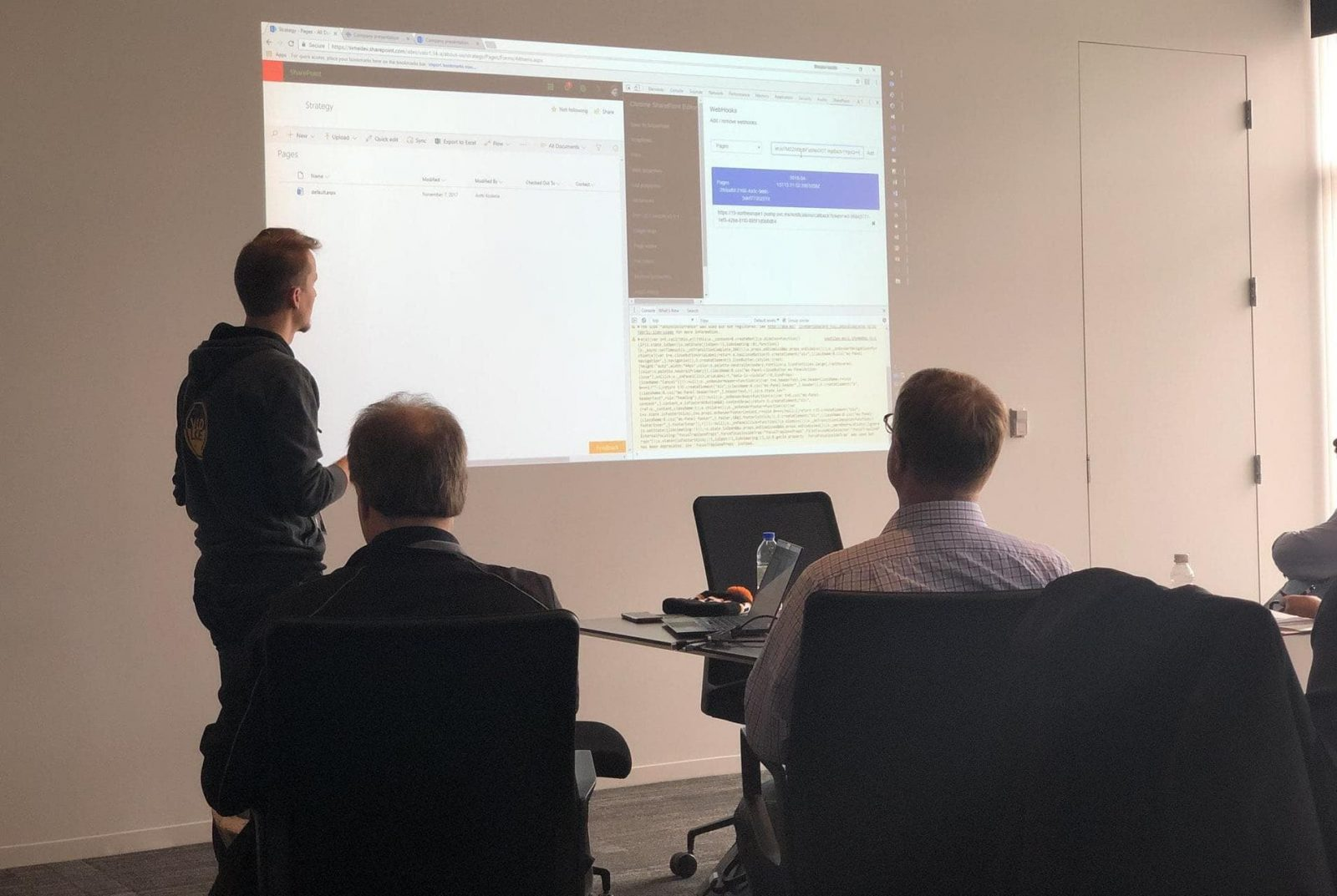 Antti K. Koskela's session at SharePoint Saturday New England - thanks for the photo Kanwal Khipple !