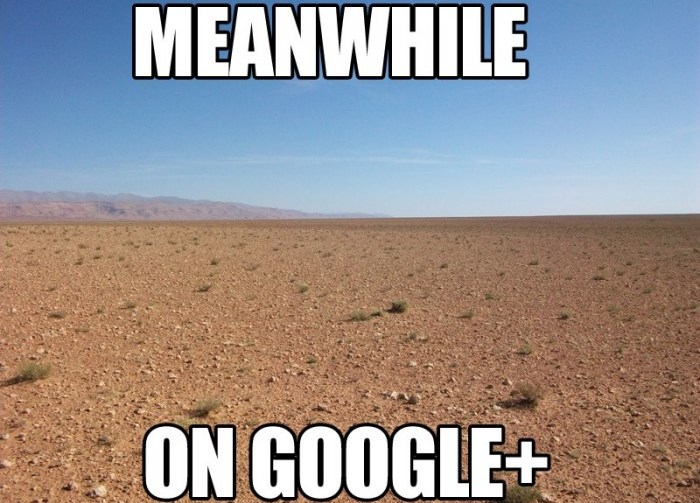 Meanwhile on Google Plus...