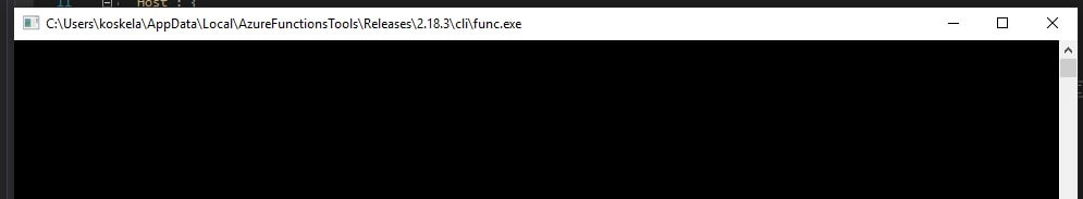 Azure Functions host is up, but clearly not functional