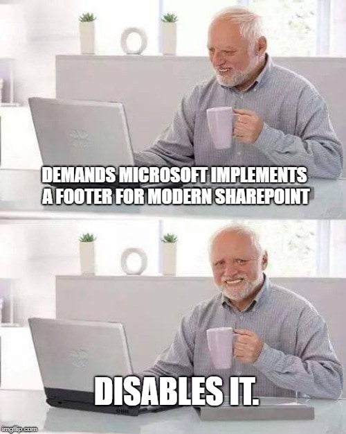 Modern SharePoint Footer - very memeworthy!