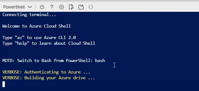 Azure Cloud Shell in browser
