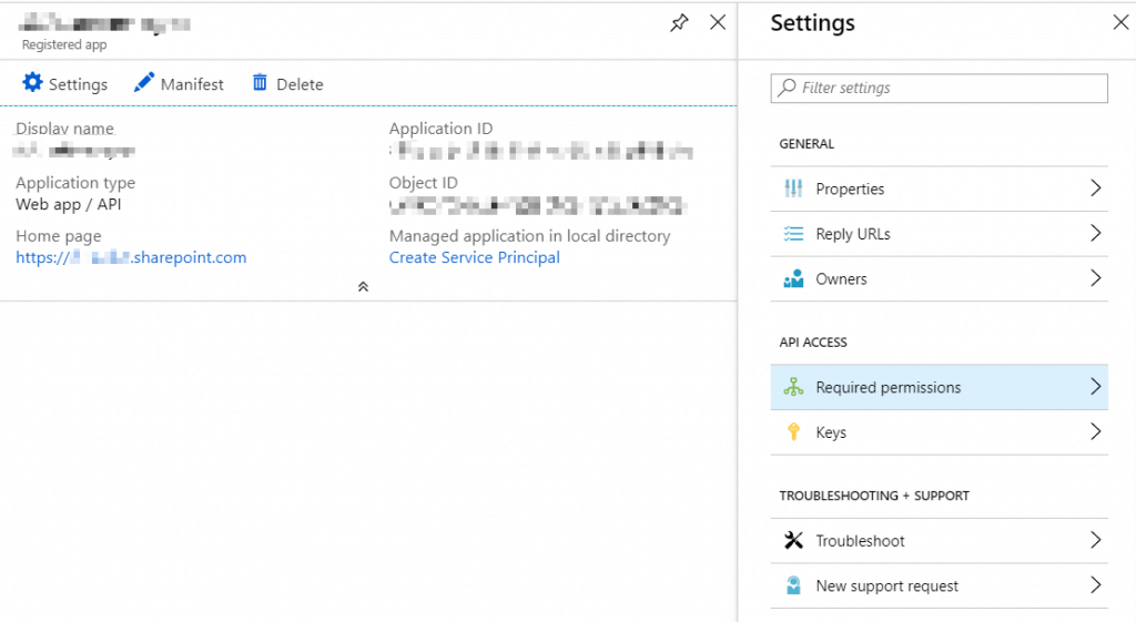 How to edit permission requests for an application registered to Azure Active Directory?