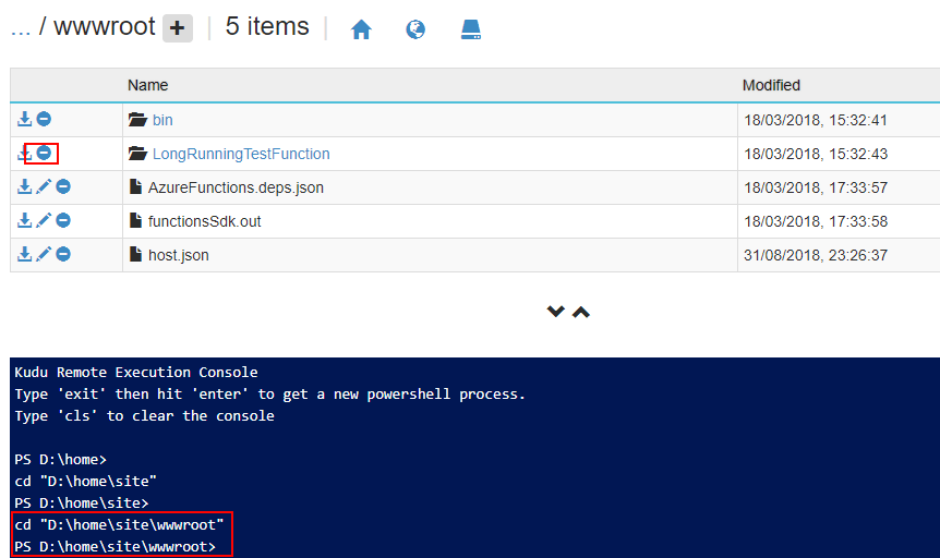 How to remove Azure Functions without deleting the Functions