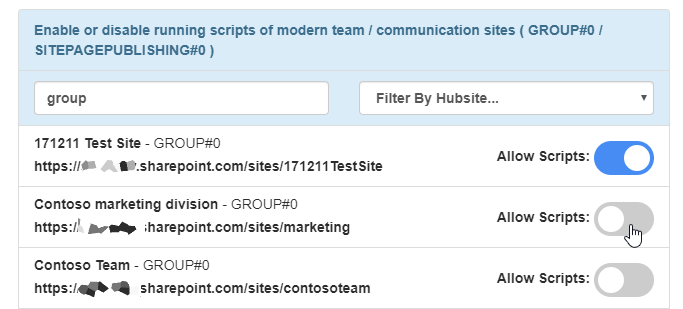 Chrome SP Editor can even filter the results based on template, url, title or Hub site association.