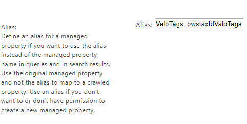 How to NOT add multiple aliases to a Managed Property. I know, I know - this is how SharePoint displays them! But it's not how to configure it.