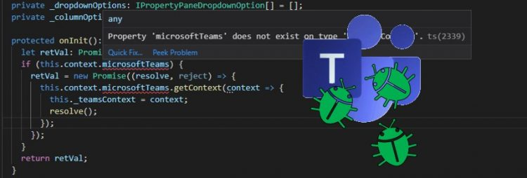 Microsoft Teams context in SharePoint Framework client-side code.