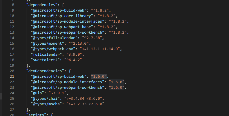 """In my packages.json -file, I had different versions of some packages for """"dependencies"""" and """"devDependencies"""". This causes errors during npm install and will cause confusion down the line."""