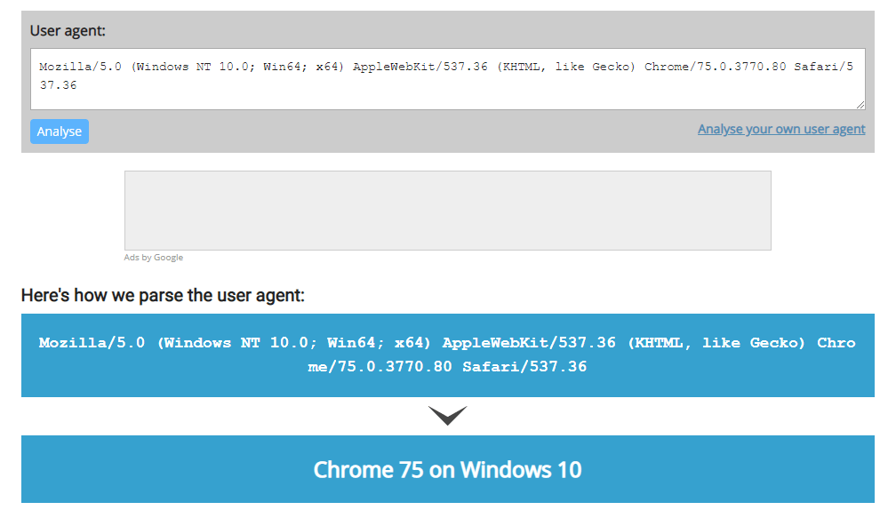 Brave 0.65.118 on Chromium: 75.0.3770.80 actually is identified as Google Chrome version 75 from the user agent.
