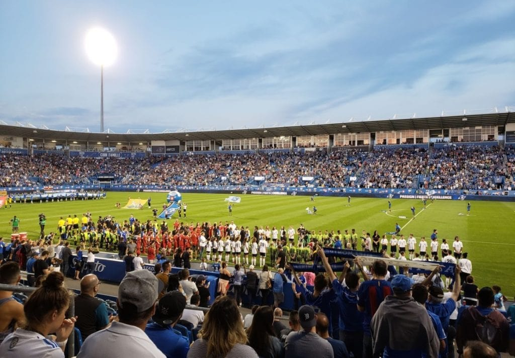 Montréal Impact game on Saputo Stadium.
