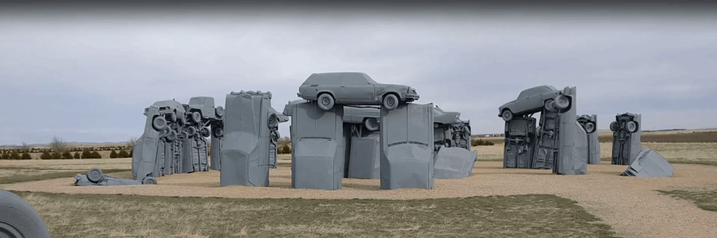 The Carhenge - inspiration for your landscaping and yard decoration efforts!