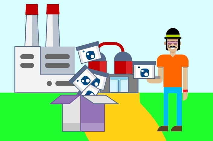 An accurate depiction of a NuGet package factory