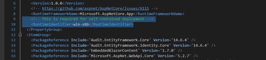 RuntimeIdentifier in a .csproj file. With a few other hacks, unfortunately.