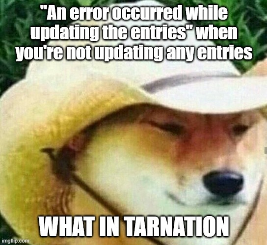 WHAT IN TARNATION EF CORE?