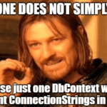 How to implement multiple Connection Strings for one DbContext in EF Core?
