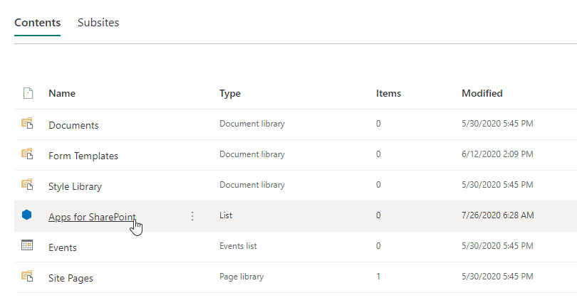 Site Collection App Catalog - it's just a library on the root site of your SharePoint site collection!