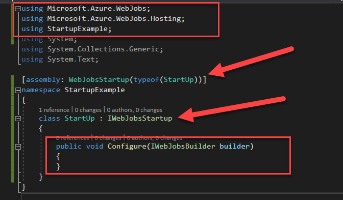 How to configure Azure Function's startup?