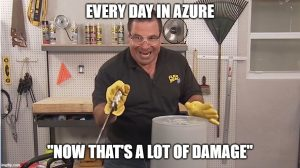 That's a lot of damage - in Azure!