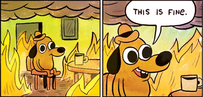 """This is fine"" - a fine meme, I mean."