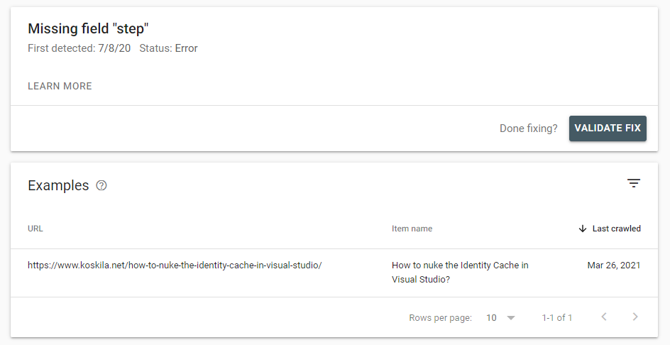Google Search Console showing broken How-to -blocks. What gives?