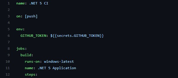 secrets.GITHUB_TOKEN mapped to an environment variable called - yes, you guessed it - GITHUB_TOKEN.